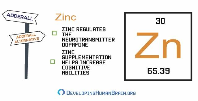 zinc adderall alternatives