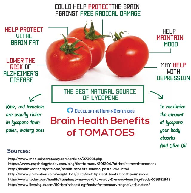 tomatoes for brain infographic