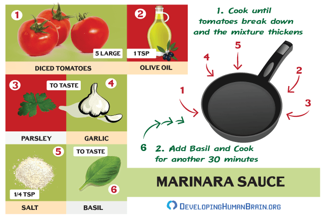 marinara sauce recipe for brain infographic