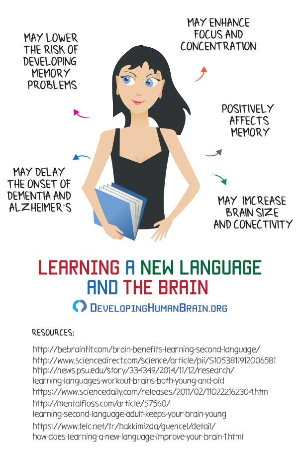 learning a new language brain benefits infographic