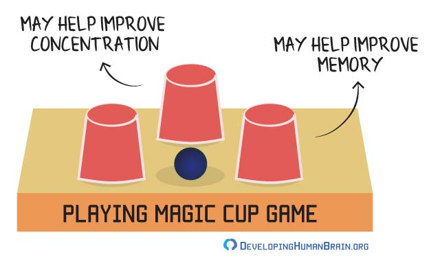 magic cup game for brain development