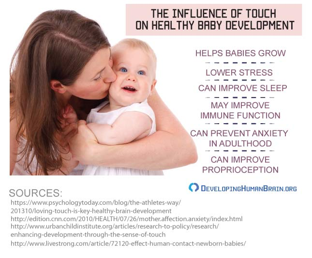 how touch affects babies