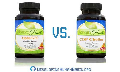 cdp choline vs alpha gpc