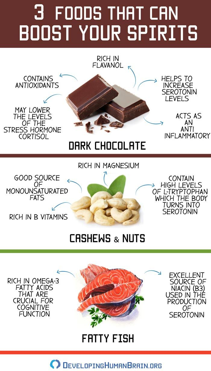 mood enhancing foods infographic