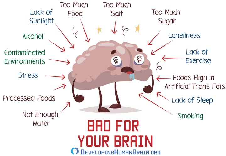 what is bad for brain