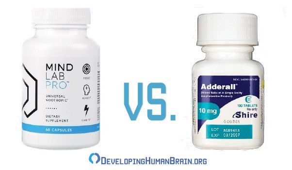 mind lab pro vs adderall