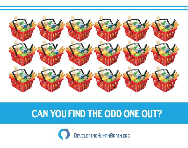 find the odd one out shopping cart