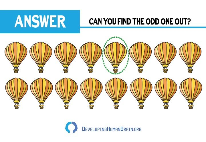 find the odd one out air balloon answer