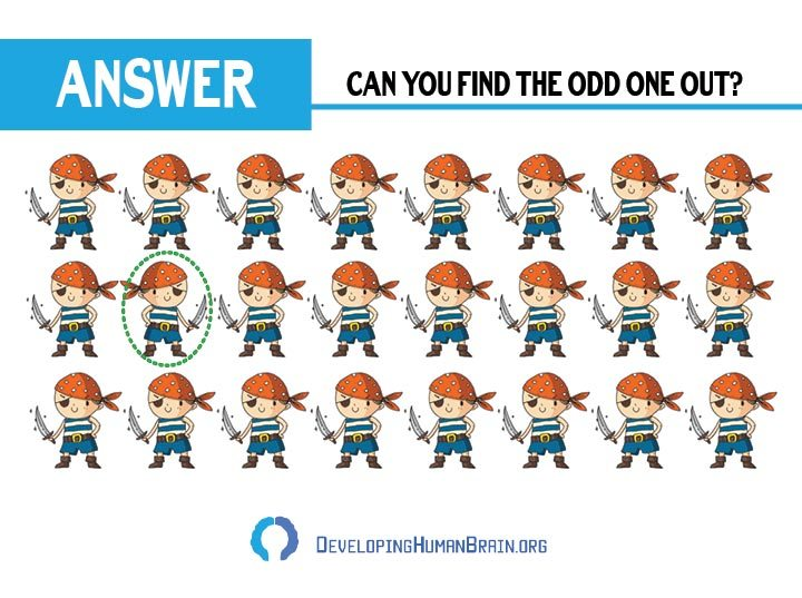 find the odd one out pirate answer